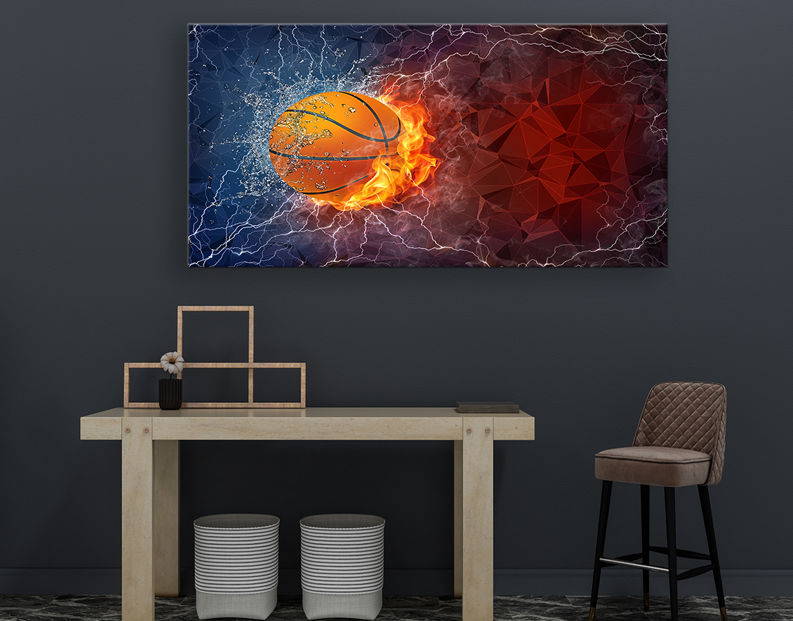 Basketball fire and ice