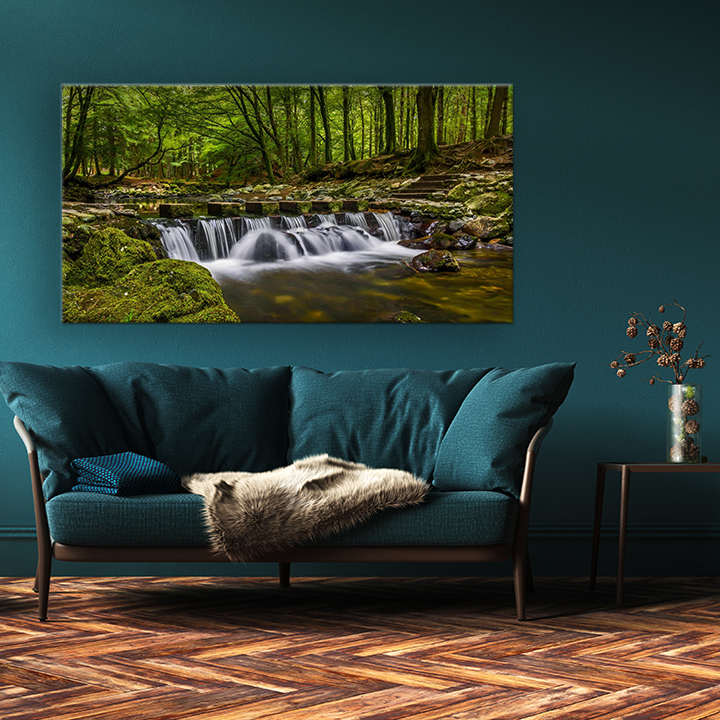 Large wall art pictures of Tullymore forest canvas prints