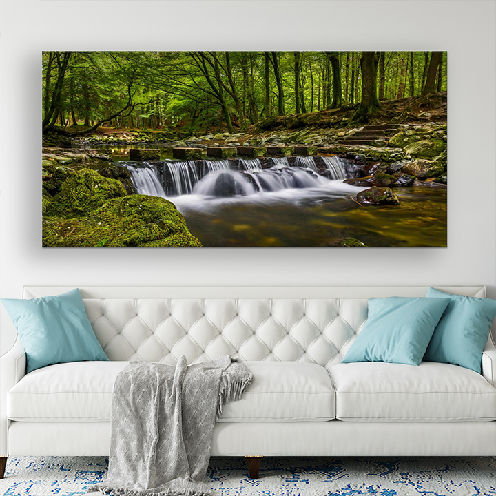 Big wall art pictures of Tullymore forest canvas prints